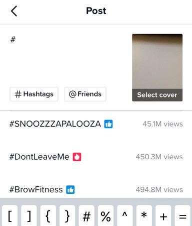 tiktok trends hashtags